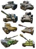 Tanks Russische, Amerikaanse en Britse verschillende tijd Royalty-vrije Stock Fotografie