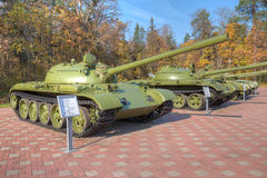 Tanks T55, T62, T72 at Museum Stock Photo