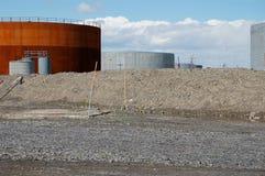 Tanks van de olie 1 Royalty-vrije Stock Afbeeldingen