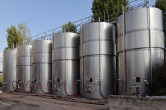 Tanks with wine Stock Photo