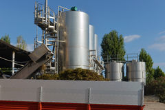 Tanks with wine Stock Photography