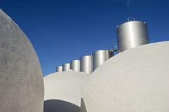 Tanks in a winery Royalty Free Stock Images