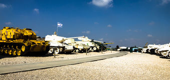 Tanks in Yad La-Shiryon Armored Corps Museum at Latrun , Israel Royalty Free Stock Photo