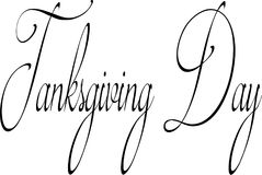 Tanksgiving day text sign illustration Royalty Free Stock Photo