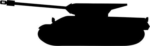 Tanksilhouet Royalty-vrije Stock Fotografie