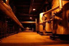 Tankss on power plant stock photo