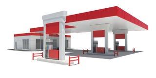 Tankstelle vektor abbildung