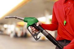 Tankstelle-Arbeitskraft Lizenzfreie Stockfotografie