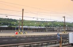 Tankstelle Eurotunnel Le Shuttle Lizenzfreies Stockfoto