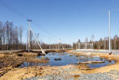 Tankstelle im Bau Lizenzfreies Stockfoto