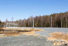 Tankstelle im Bau Lizenzfreie Stockfotografie