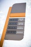 Tankstelle leer Stockfotografie