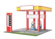 Tankstelle lokalisiert auf einem weißen Hintergrund Stock Abbildung