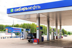 Tankstelle Sibir Neft Sibir Neft ist eins russischen Öl-COM Lizenzfreies Stockfoto