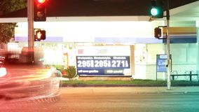 Tankstelle-Zeitspanne - HD stock footage