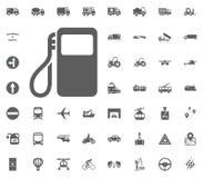 Tankstelleikone Gesetzte Ikonen des Transportes und der Logistik Gesetzte Ikonen des Transportes Stockbilder
