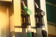 Tankstellepumpen Stockfoto