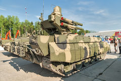 Tanksteun het Vechten Voertuigbegeindiger Rusland Royalty-vrije Stock Foto's