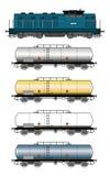 Tanktrein Royalty-vrije Stock Afbeeldingen