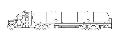 Tankwagen Royalty-vrije Stock Afbeeldingen