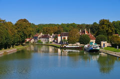 Tanlay Canal de Bourgogne. In France Stock Photos