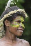 Tanna, la República de Vanuatu, el 12 de julio de 2014, retrato de un indi imagen de archivo
