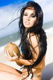 Tanned Beach Babe Royalty Free Stock Photo