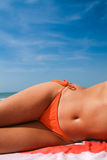 Tanned female body Royalty Free Stock Image