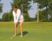 Tanned Lady Golfer Royalty Free Stock Photo