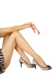 Tanned legs Stock Image