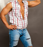 Tanned male torso  Stock Photos