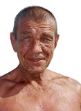 Tanned old man Royalty Free Stock Photo