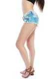 Tanned slim legs Royalty Free Stock Image