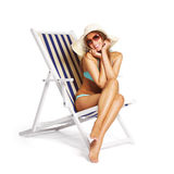 Tanned woman Stock Images