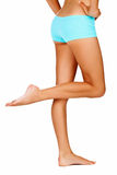 Tanned woman legs Stock Images