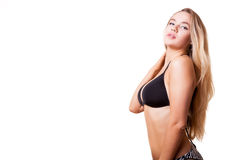 Tanned woman with perfect body Stock Image