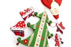 Tannen-Weihnachten und Weihnachtsmann. Lizenzfreies Stockfoto