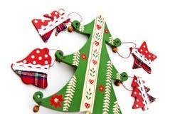 Tannen-Weihnachtsdekorationen. Stockfoto