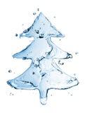 Tannenbaum vom Wasserspritzen Stockfotos