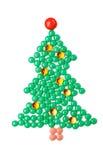 Tannenbaum von Tabletten, lokalisiert Stockbilder