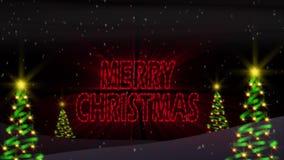 Tannenbaum Vrolijke Kerstmis stock video