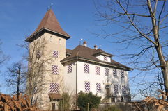 Tannenfels Castle. Is situated in the town of Nottwil in Switzerland. It is a private property and cannot get visited Stock Photo