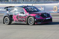 Tanner Foust 34, drives a Volkswagen Beetle car, during the Red Stock Photography