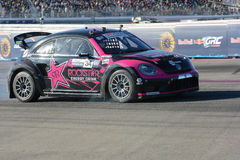 Tanner Foust 34, drives a Volkswagen Beetle car, during the Red Royalty Free Stock Photo