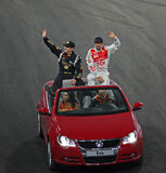 Tanner Foust (USA) and Emanuele Pirro (ITA) Royalty Free Stock Photography