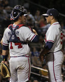 Tanner Murphy and Carlos Salazar, Rome Braves Stock Photography