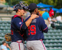 Tanner Murphy and Oriel Caicedo, Rome Braves Royalty Free Stock Image