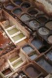 Tannerie #5 de Fes Image stock
