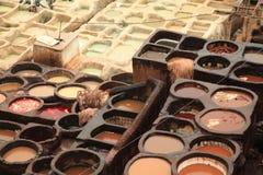 Tannerie de Fez Photos libres de droits