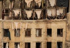 Tannerie de Morrocan dans Fes Image libre de droits